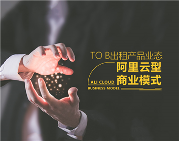 To B出租产品业态—阿里云型商业模式