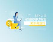 財務人員必備的稅收籌劃知識與技巧(11集)