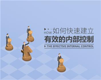 如何快速建立有效的内部控制(3集)