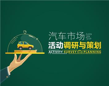 汽车市场活动调研与策划(4集)
